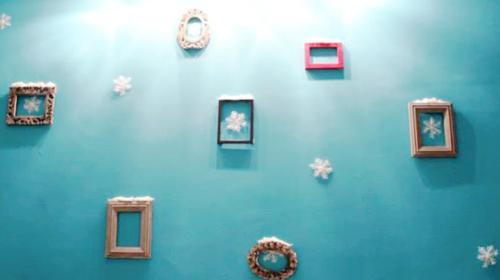 DIY Chritmas Party Photo Wall